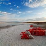 Am Strand des Toten Meeres | На пляже Мертвого моря