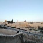 Blick auf den Tempelberg   Вид на Храмовую гору
