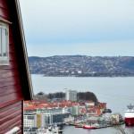 Wohnhaus mit Blick auf Bergen