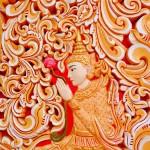 Деталь орнамента стены Золотой Пагоды | Ornament von der Goldene Pagode Mauer