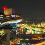 Вид на ночной порт | Der Hafen von Singapur in der Nacht