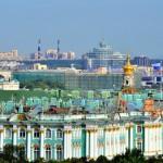 Blick auf den Winterpalast | Вид на Зимний дворец