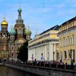 Blick auf die Auferstehungskirche (Blutkirche) | Вид на Спас-на-Крови со стороны Невского проспекта